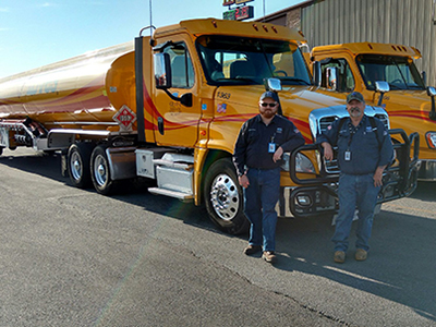 Gemini Motor Transport father-son duo