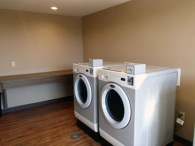 Laundry room at Midland Texas hotel