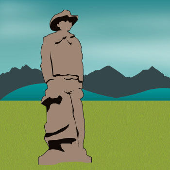 road trip cowboy statue
