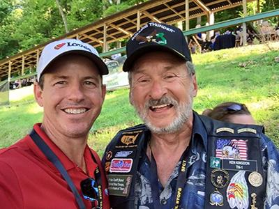 Jon Archard and Ken Kingdon at Camp Nash