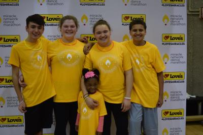 Miracles Kids at Love's photo stop at Soonerthon