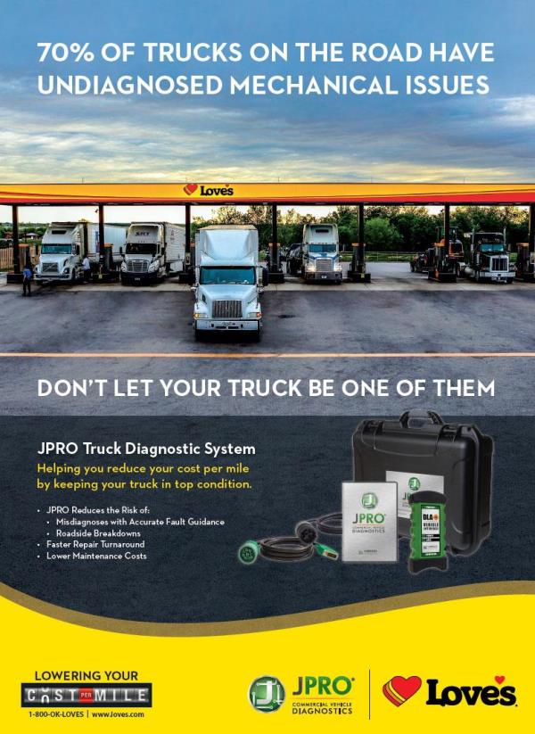 JPRO diagnostics at Love's Truck Tire Care