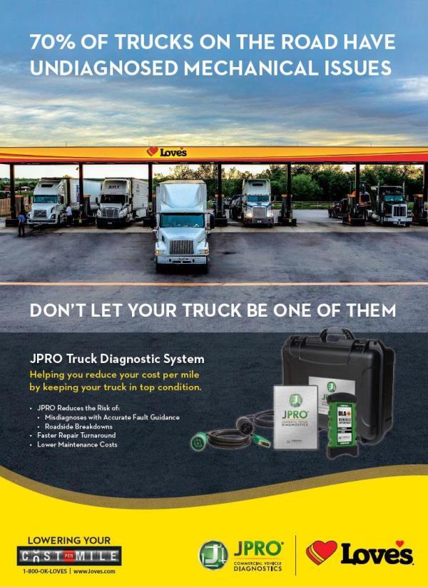 JPRO diagnostics at Love's Truck Tire Care