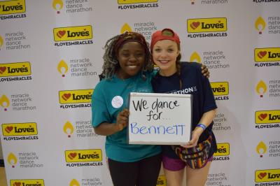 Soonerthon dances at Love's photo booth
