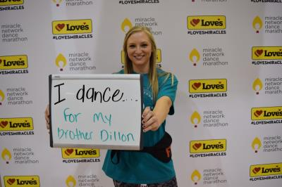 Dancer at Soonerthon represents her brother
