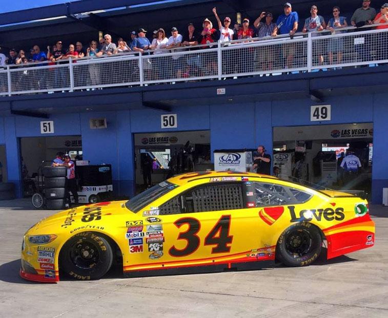 Chris Buescher at Kobalt 400 in Vegas