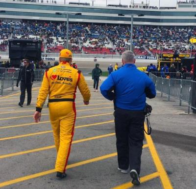 Chris Buescher at Kobalt 400 in Vegas