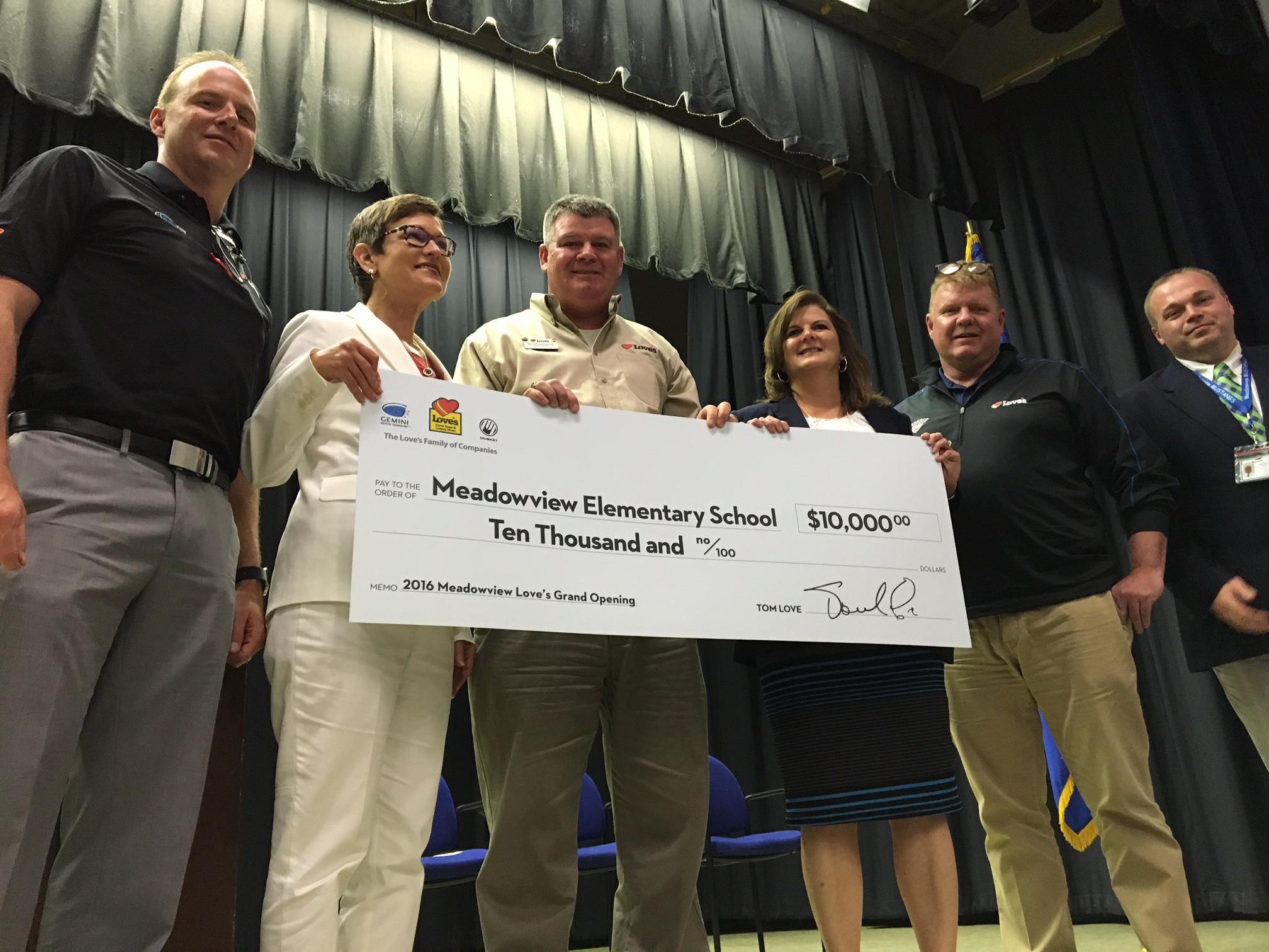Meadowview Elementary School check presentation