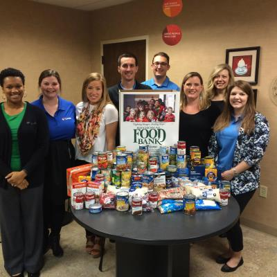 loves donates food to Regional food bank of OK