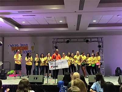 loves donates to creighton dance marathon
