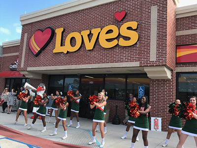 grand opening at loves in gulfport