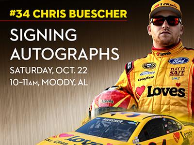 buescher signs autographs oct 22 at Love's