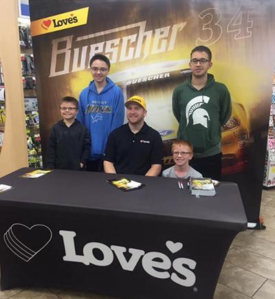 chris buescher with Love's Customers