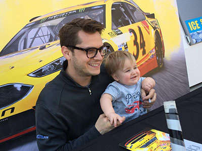 landon cassill meets young fan