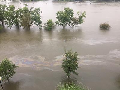 downtown Houston flooding