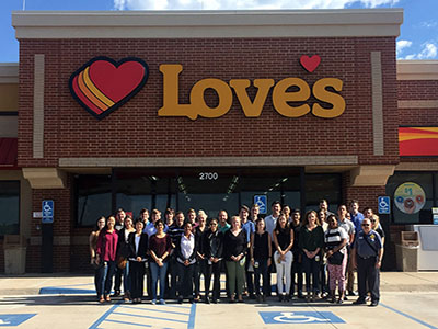 loves corporate interns tour a loves travel stop