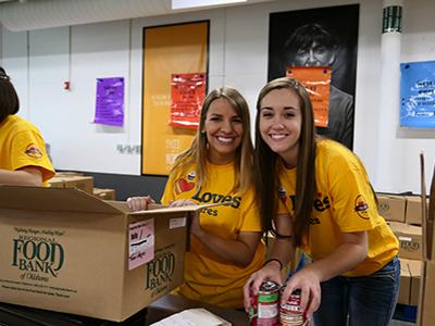 loves interns volunteer at regional food bank