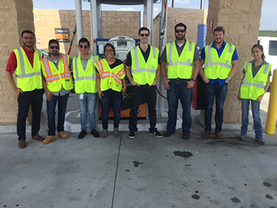 trillium interns visit cng station
