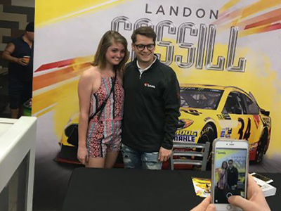 nascar fans meet landon cassill at loves