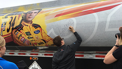 landon cassill autographs loves fuel hauler