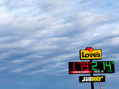 loves travel stop with subway restaurant