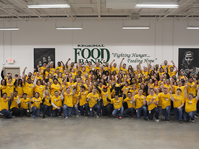 share the love day at regional food bank of oklahoma