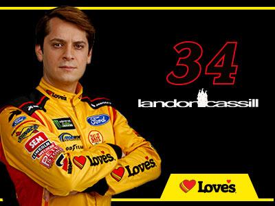 34 loves ford driver landon cassill