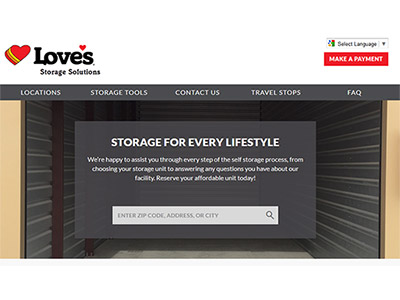 self storage website