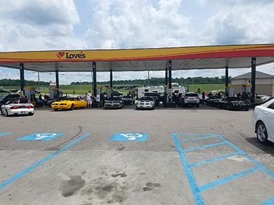bandit run fuel stop at loves