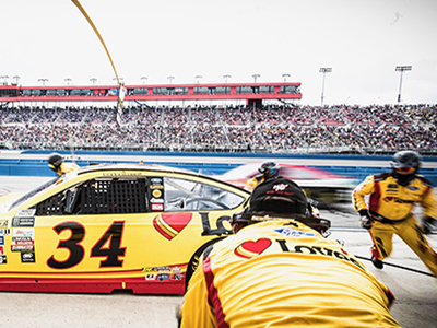 cassill front pit stop in California
