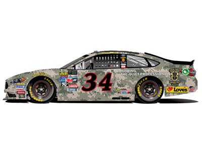 34 loves ford military paint scheme at daytona