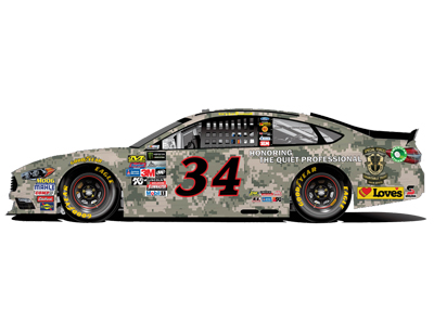 34 loves ford military paint scheme at daytona