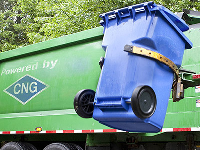 cng powered trash truck