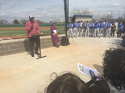 joe carter's dedication speech at Millwood High School