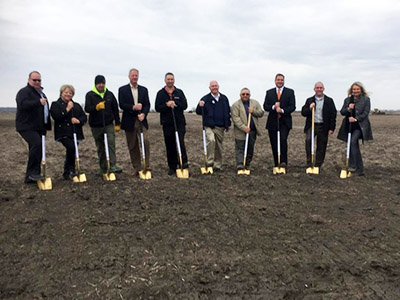 mills county official at Love's Travel Stops groundbreaking