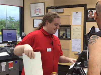 customer service employee gaven at Love's