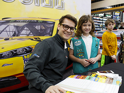 landon cassill meets young fans at loves
