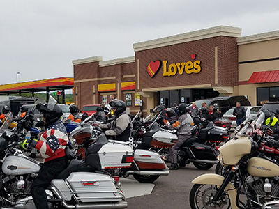 kp charity ride at loves in wisconsin