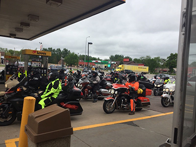 kyle petty charity ride at loves