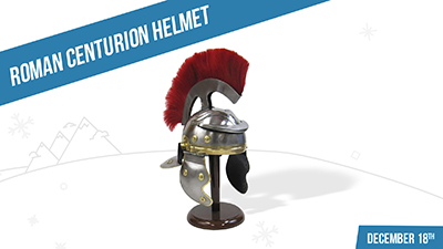 roman helmet at Love's