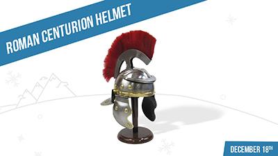 roman helmet at Love's