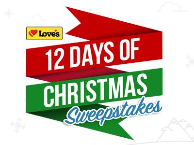 Love's 12 Days of Christmas Sweepstakes
