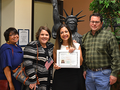 love corporate team celebrate new us citizen