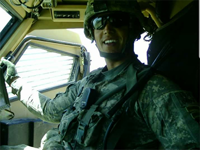 Infantry officer Humvee Afghanistan
