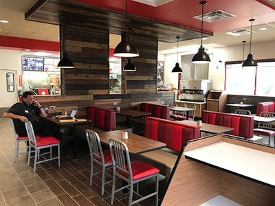 new Arby's dining room in Waller, Texas