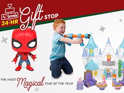 Christmas gifts at love's travel stops