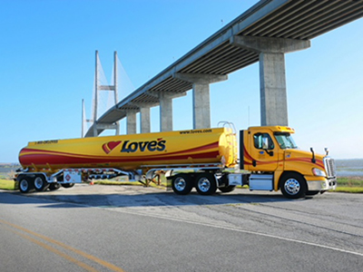 Love's fuel hauler in Dallas