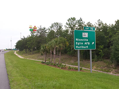 highway exit for sleep inn defuniak springs