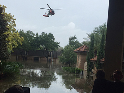helicopter rescue during harvey