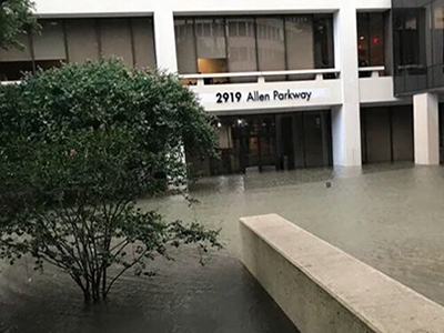 trillium office flooded during harvey